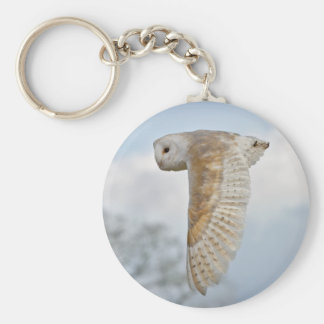 Barn Owl in Flight Keyring