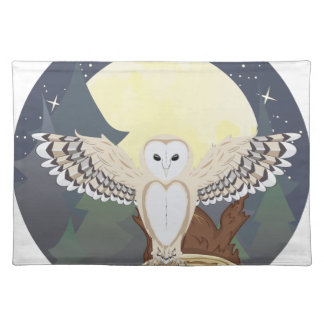 Barn Owl on a Tree Stump 3 Placemat