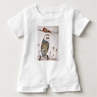 Barn Owl on the hunt Baby Romper