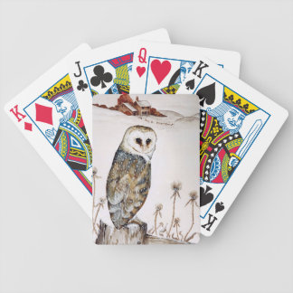 Barn Owl on the hunt Bicycle Playing Cards