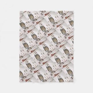 Barn Owl on the hunt Fleece Blanket