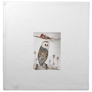 Barn Owl on the hunt Napkin