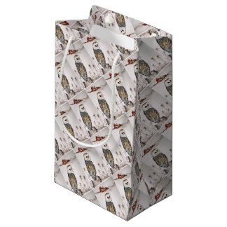 Barn Owl on the hunt Small Gift Bag