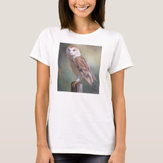"""Barn Owl Painting women's tee"