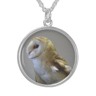 Barn Owl Portrait Necklace