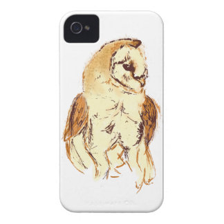 Barn Owl Sketch Case-Mate iPhone 4 Cases