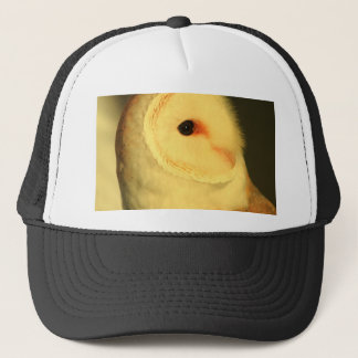 Barn owl trucker hat