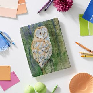 Barn owl watercolor iPad cover