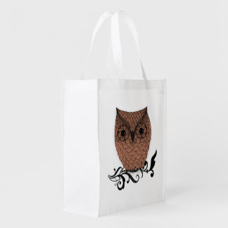 Barn Owl Whimsical Country Grocery Bags