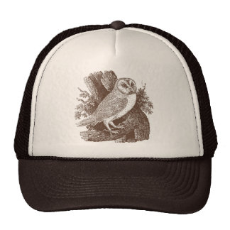 Barn Owl Woodcut Trucker Hat