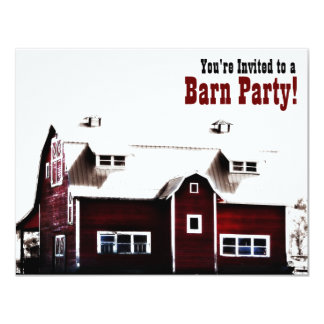 Barn Party - Country Style Get Together Card