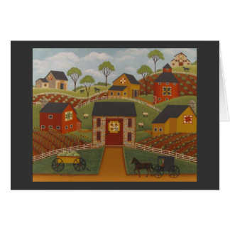 Barn Quilts Note Card