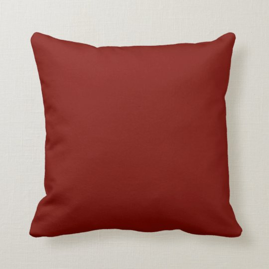 Barn red colour background throw pillow