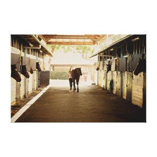 Barn scene canvas print