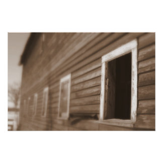Barn Sepia tone photograph Imaginative Imagery Poster