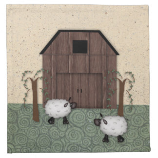 Barn Sheep Napkin