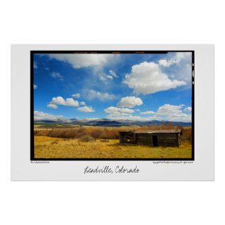 Barn & Sky, Leadville, Colorado Poster