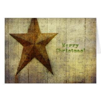 Barn Star Christmas Card