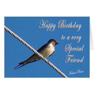 Barn Swallow Birthday Card