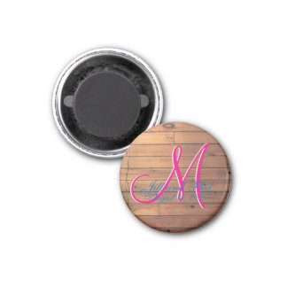 Barn Wall 3d Monogram Magnet