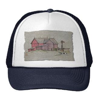 Barn Windmill & Cow Trucker Hat