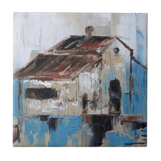 Barn with antique and rustic hues of turquoise tile