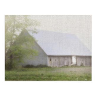 Barn with Fog Postcard