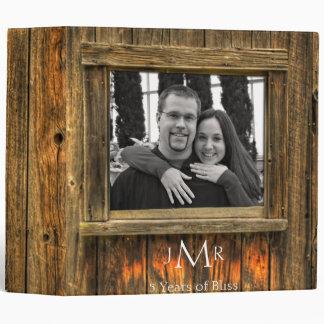 Barn Wood 5th Wedding Anniversary Binder