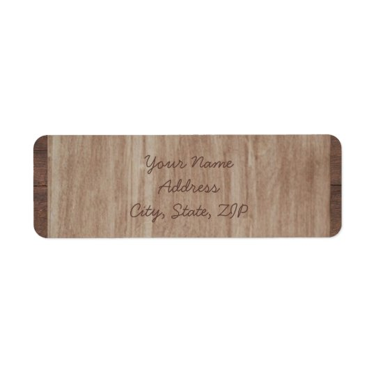 Barn Wood and Birch Country Wedding Labels