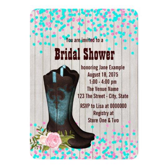 Barn Wood Country Bridal Shower Card