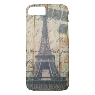 Barn Wood French Country Paris Eiffel Tower Case-Mate iPhone Case
