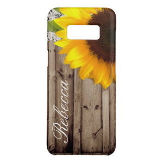 barn wood lace rustic country sunflower Case-Mate samsung galaxy s8 case