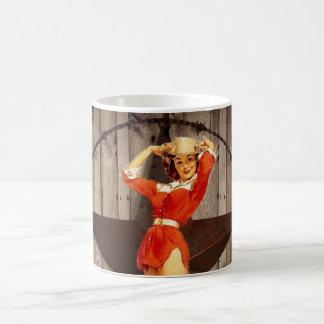 Barn wood Lone Star western country Cowgirl Coffee Mug