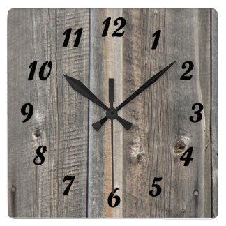 Barn Wood Look Clock