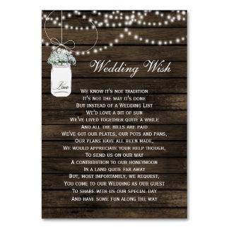 barn wood mason jar rustic wedding details card table cards
