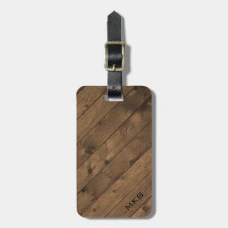 Barn Wood Tag w/ leather strap