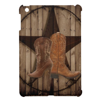 Barn Wood Texas Star western country cowboy boots iPad Mini Cases