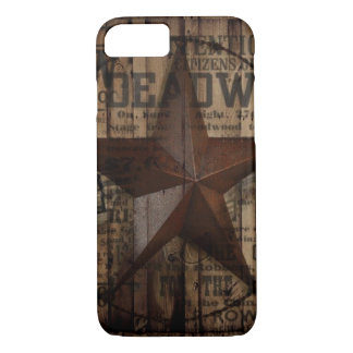 Barn Wood western country Texas Lone Star Case-Mate iPhone Case