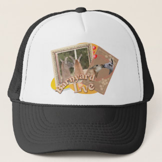 BARN YARD LOVE - LLAMAS KISSING TRUCKER HAT