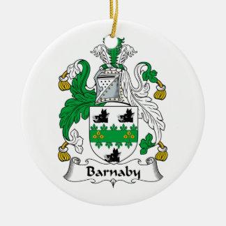 Barnaby Family Crest Ceramic Ornament