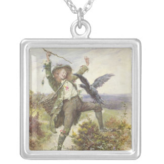 Barnaby Rudge and the Raven Grip Silver Plated Necklace