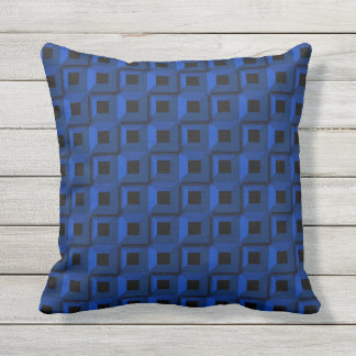Barnacles in Blue Outdoor Throw Pillow