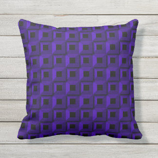 Barnacles in Dark Blue Outdoor Throw Pillow