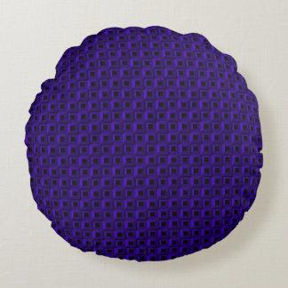 Barnacles in Dark Blue Round Throw Pillow