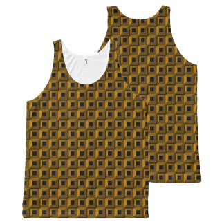 Barnacles in Gold All-Over Printed Unisex Tank
