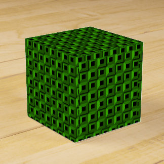 Barnacles in Green Classic 2x2 Favor Box
