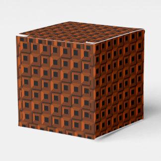 Barnacles in Orange Classic 2x2 Favor Box