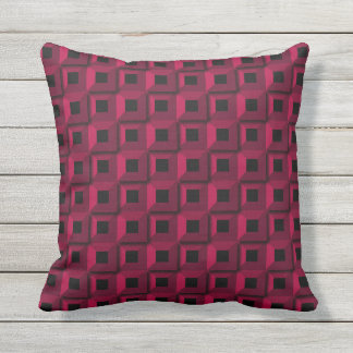 Barnacles in Pink Outdoor Throw Pillow