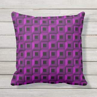 Barnacles in Purple Outdoor Throw Pillow