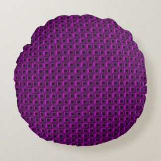 Barnacles in Purple Round Throw Pillow